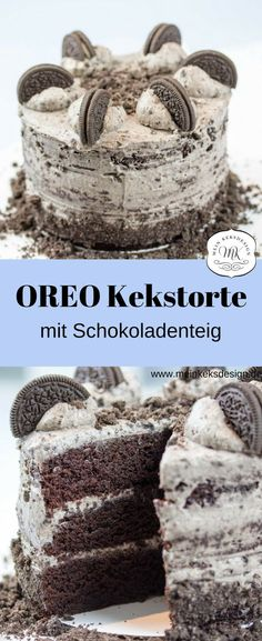 Super delicious cake recipe with OREO biscuits. Juicy chocolate dough, delicious c . - Super delicious cake recipe with OREO biscuits. Juicy chocolate dough, delicious biscuits and fine - Biscuit Oreo, Oreo Biscuits, Oreo Dessert, Oreo Cookies, Yummy Cookies, Cupcakes, Delicious Cake Recipes, Salty Cake, Homemade Baby Foods