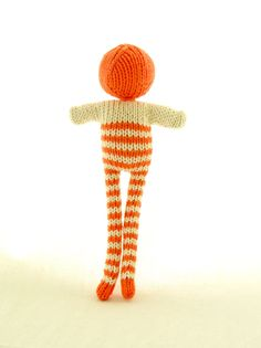 Handmade knitted dolls by dents de loup