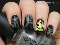 Hunger Games inspired nails...love it.