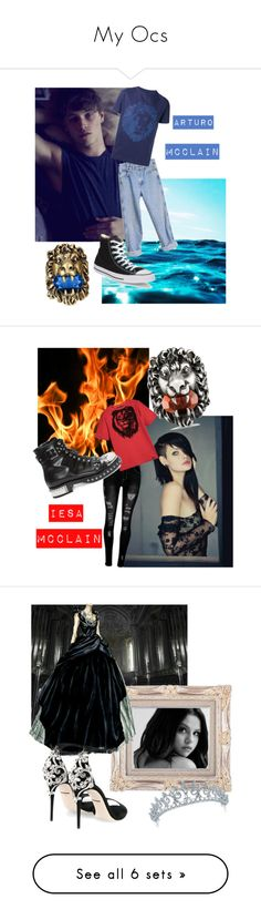 """""""My Ocs"""" by diikahperillo ❤ liked on Polyvore featuring Wrangler, Versus, Gucci, Converse, men's fashion, menswear, Roberto Cavalli, Alexander McQueen, Bling Jewelry and Dolce&Gabbana"""