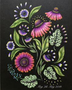 Helenium Autumnale from #Blomstermandala #mariatrolle #adultcolouringbook…