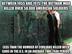 More people die from gun violence in two years in the U. than soldiers who died in all of the Vietnam War. Religion Quotes, We Are The World, Republican Party, Vietnam War, Good Things, Random Things, Random Stuff, Peace, Feelings