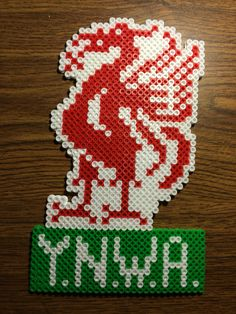 Liverpool Soccer - You Never Walk Alone Liverpool Badge, Liverpool Soccer, Pearler Beads, Fuse Beads, Diy And Crafts, Crafts For Kids, Football Crafts, Hama Beads Design, Double Duvet Covers
