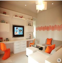 maybe a version of this for the open basement office/craft area