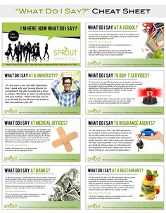 What the heck do I say when I go outreach marketing? Every business is different. Check out the handy cheat sheet.  For more awesome multifamily housing freebies check out www.WatchYourBusinessSprout.com.  #DIYOutreach Marketing | #SproutMarketing #multifamilyhousing