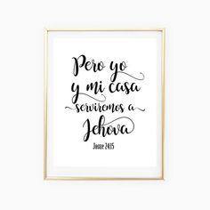 Joshua 24 15 Spanish Bible Verse  Biblical Spanish Print