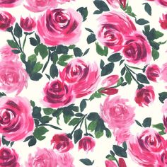 Florals are always a favourite of mine - how cute is this pink rose print?
