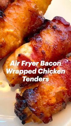 Air Fryer Chicken Recipes, Air Fryer Oven Recipes, Air Fry Recipes, Air Fryer Dinner Recipes, Cooking Recipes, Bacon Wrapped Chicken Tenders, Air Fryer Chicken Tenders, Chicken Appetizers, Appetizer Recipes