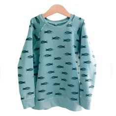 Sudadera peces azul grisáceo