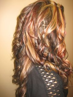 Dramatic Multi-color hair highlighting by Mary B.,  Crystal Lake, Illinois