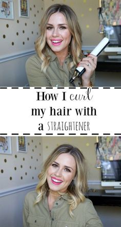 how to curl your hair with a straightener | How to curl your hair | Bob Curls | Lob Curls #bob #curls #lob #shorthair