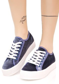 33acc660981 Another Level Velvet Sneakers cuz yer game is a step above the competition