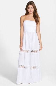 c20f60ddb14 La Blanca Maxi Cover-Up Dress available at  Nordstrom Lace Inset