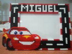 Custom photo frame Cars hama perler beads (10X15) by Andres Moreno Rodriguez