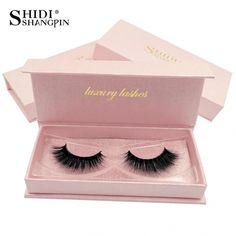 SHIDISHANGPIN 1 Pair mink eyelashes 1 box 3d false eyelashes natural l – eefury #EyelinerForBeginners False Eyelashes Tips, Longer Eyelashes, 3d Mink Lashes, False Lashes, Eyelash Tips, Eyelash Glue, Cotton Stalks, Oil Makeup Remover, Artificial Eyelashes