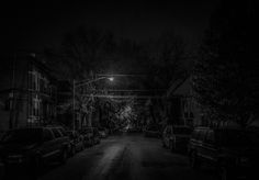 Chicago in black & white. Only a little streetlight was lit up on this street. It ended up making for a really cool edit.