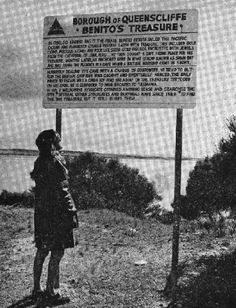 Newspaper clipping / Sign at Queenscliff (no longer at the site).