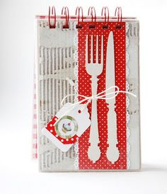 Cook Book Cover Card