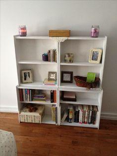 Turn old dresser drawers into a boom shelf!