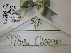 Palm Tree Personalized Beach Wedding Bridal Hanger, Destination Wedding Dress Hanger, Personalized Bridal Gift - Wire Name Hanger. $29.95, via Etsy.