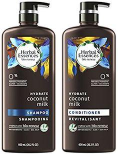 Herbal Essences Bio:Renew Coconut Milk Shampoo and Conditioner Set, fl oz Each Coconut Conditioner, Coconut Milk Shampoo, Shampoo And Conditioner, Beauty Land, Hydrating Shampoo, Herbal Essences, Herbalism, Hair Care, Bottle