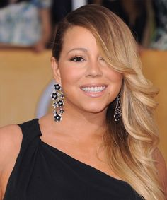 Mariah Carey Hairstyle - Formal Long Straight. Click on the image to try on this hairstyle and view styling steps!