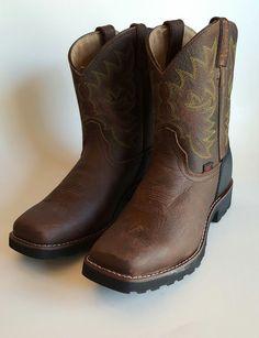 Tony Lama KIDZ Cowboy Western Boots Shoes  Brown Youth Boys  Size 4D LL906 USA #TonyLama #CowboyWestern #Casual