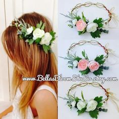 Flower Crown Adult Bridal Crown Flower girl wreath flower girl Halo Kids flower crown white flower crowns communion headpiece etsy - All About Hairstyles Flower Girl Halo, White Flower Crown, Flower Crown Bride, Bridal Crown, Flower Crowns, Bridal Hair Flowers, Flower Headpiece, Cream Flowers, White Flowers