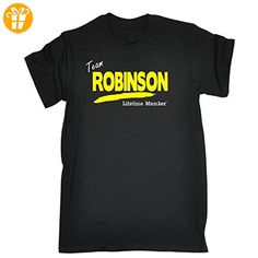 Its A Familienname Thing Boy/Girl – 'Team Robinson Lebenslange Mitglied' Family Namen – Loose Fit T-Shirt Gr. Kinder Alter 3-4/XS, schwarz - Shirts mit spruch (*Partner-Link)