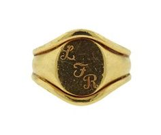 Cartier 18K Gold Oval Signet Ring Featured in our upcoming auction on July 11th!