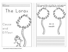 This is a cause and effect activity.  Do a mini-lesson to teach students the use of the signal words.  Then students read the story The Lorax to cr...