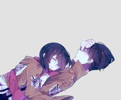 mikasa and eren: shingeki no kyojin Manga Anime, Anime Nerd, Attack On Titan Hoodie, Attack On Titan Anime, Otp, Mikasa X Eren, Anime Tumblr, Rivamika, Eremika