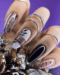 Blush Nails, Gold Nails, Pink Nail Art, Glitter Nail Art, Perfect Nails, Gorgeous Nails, Nail Time, Metallic Nails, Pretty Nail Art