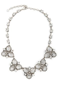 Crystal Cluster Necklace by Badgley Mischka Jewelry for $15 | Rent The Runway