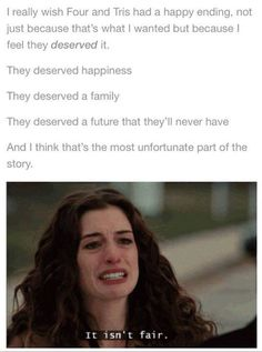 They deserved more, but Tris was Divergent, Abnegation and Dauntless to the end. Divergent Memes, Divergent Hunger Games, Divergent Fandom, Divergent Trilogy, Divergent Insurgent Allegiant, Tfios, Insurgent Quotes, Percy Jackson, Veronica Roth