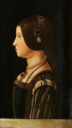 Beatrice d'Este, Duchess of Milanby Italian (Lombard) SchoolOil on panel, 51 x 34.5 cmCollection: Christ Church, University of Oxford