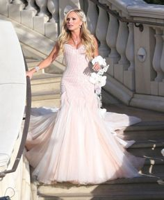 Tamra Barney's Pink Wedding Dress- I wish I would have followed my childhood dreams and wore a pink wedding dress.