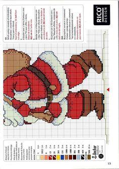 Schema punto croce Babbo Natale 03