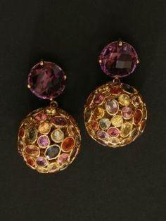 Emily and Ashley Amethyst Drop Earrings