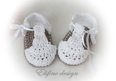 CROCHET PATTERN crochet baby booties no34crochet por elifinedesigns
