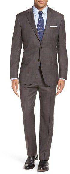 8496ec30100 Men s Hart Schaffner Marx Classic Fit Plaid Wool Suit
