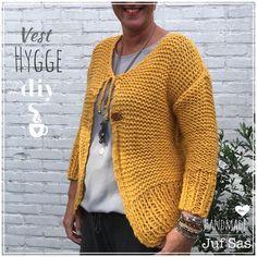 Vest Hygge handmade by juf Sas met gratis patroon