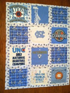 T Shirt Quilt - I've been wanting to make one for the longest. My t-shirts have sentimental value and represent my life as a social worker, a volunteer, an advocate, a Tar Heel, and a Christian. They're crowding my closet but I don't want to donate them. Diy Projects To Try, Crafts To Make, Diy Crafts, Sewing Crafts, Sewing Projects, Sewing Tips, Quilting Designs, Quilt Design, Quilting Ideas