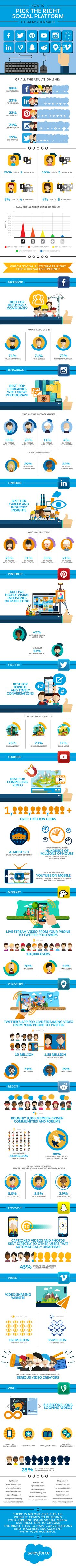 Nasıl Satış [Infographic] Grow Sağ Sosyal Platformlar Pick |  Sosyal Medya Bugün