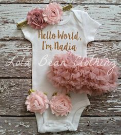 Check out this item in my Etsy shop https://www.etsy.com/listing/258096717/baby-girl-take-home-outfit-newborn-baby
