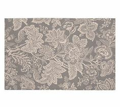 Layla Palampore Indoor/Outdoor Rug - Gray #potterybarn comes in other colors too.