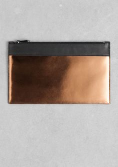 & Other Stories | Copper Leather Clutch