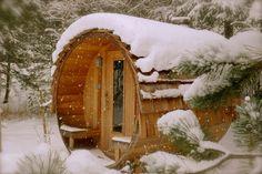 sauna winter snow