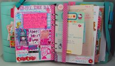 Art in your planner - combine scrapbooking, art journaling and life mapping in your planner.