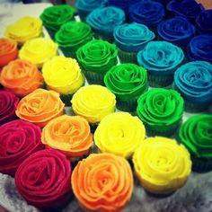 From Colourfull Rainbow Lollipops, Cupcakes, Sprinkles ❤ Rainbow Eyes, Rainbow Food, Taste The Rainbow, Over The Rainbow, Rainbow Colors, Rainbow Stuff, World Of Color, Color Of Life, Rainbow Cupcakes